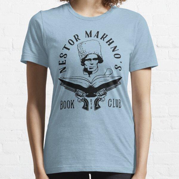 Nestor Makhno's Book Club - Black Version Essential T-Shirt