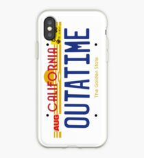 Outatime License Plate iPhone Case