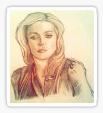 Bedelia du Maurier Traditional Drawing with Filter Sticker