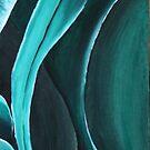 Green Swirls (dipytch part b) by Margo Humphries