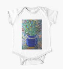 Flowers in vase One Piece - Short Sleeve
