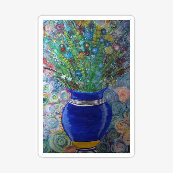 Flowers in vase Sticker