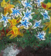 Flowers in Pot Sticker