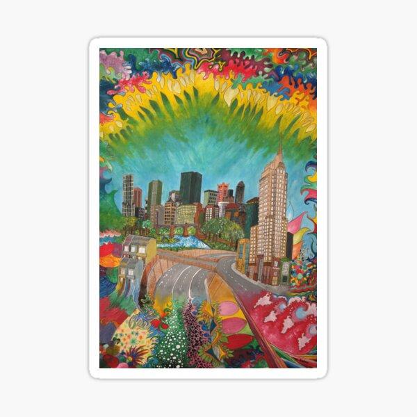 City - vivid Sticker