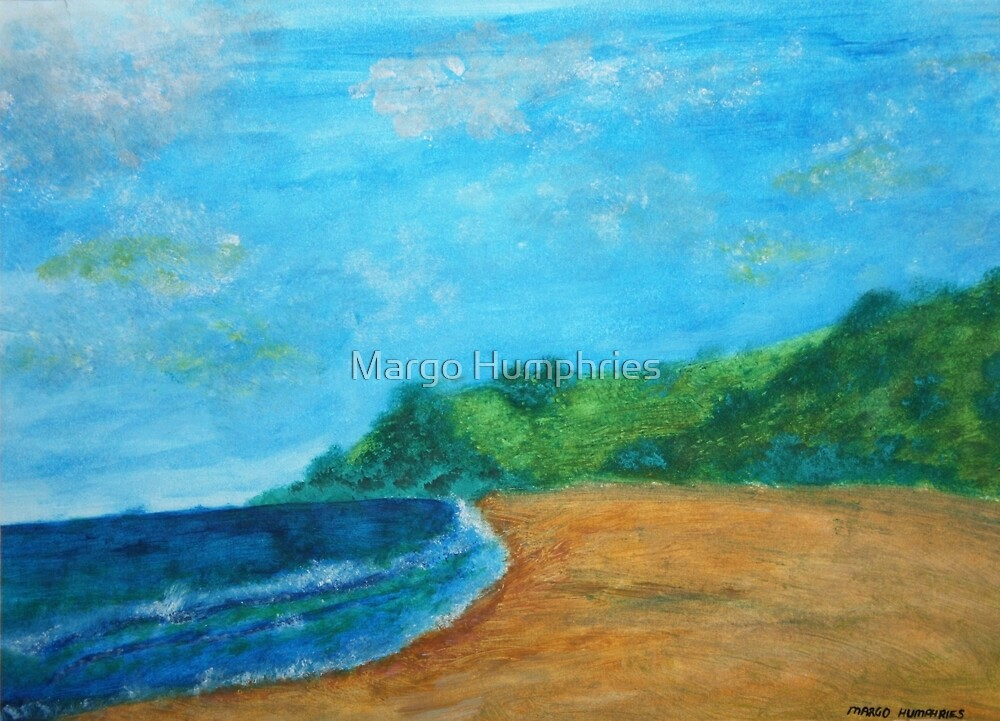 At the beach by Margo Humphries