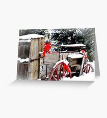 Christmas Wagon Greeting Card