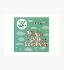 Flight of the Conchords - Folk the World Tour Art Print