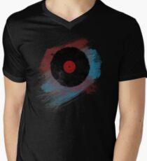 Vinyl Record - Modern Vinyl Records Grunge Design - Tshirt and more Men's V-Neck T-Shirt