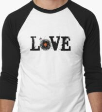 Love Vinyl Records Men's Baseball ¾ T-Shirt