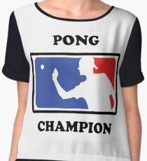 Pong Champion Women's Chiffon Top