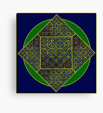 Traditional Indian Pottery Design Digitally Altered Canvas Print