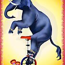 Elephant-Unicycle by Lotacats