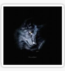 """The Look Back"" Timber Wolf Portrait Sticker"