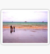 Three - The sea - Puerto Madryn Argentina Sticker