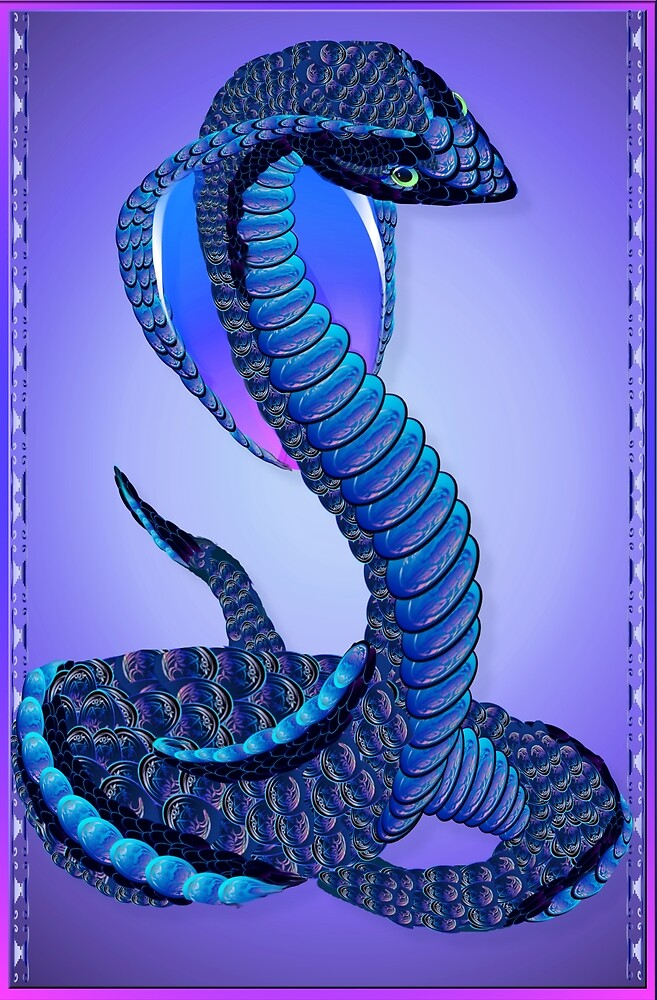 A Big Blue Snake Large Poster by Lotacats