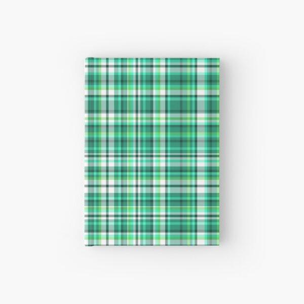 Elf Green and White Tartan   Hardcover Journal
