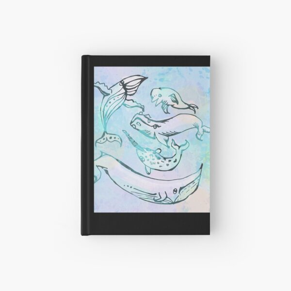 Tie Dye Whales Hardcover Journal