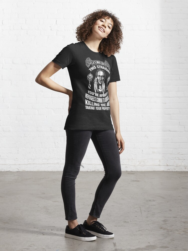 T-shirt essentiel ''Américain de naissance': autre vue