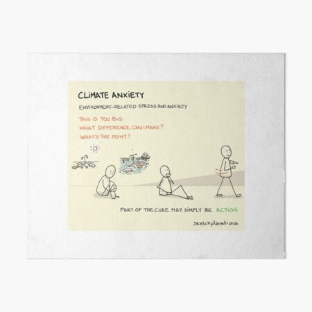 Climate anxiety Art Board Print