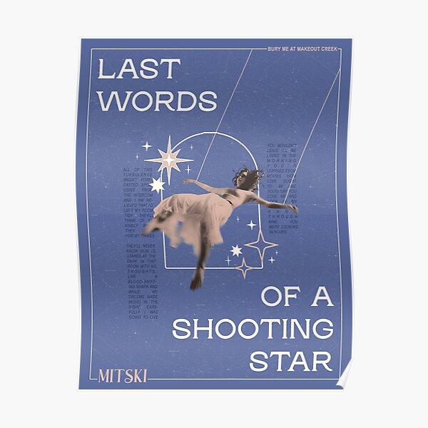 "mitski - ""last words of a shooting star"" Poster"