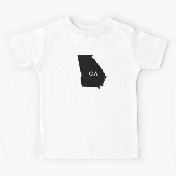 Georgia Black Out Kids T-Shirt
