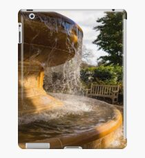 One Fine Autumn Day by the Golden Marble Fountain iPad Case/Skin