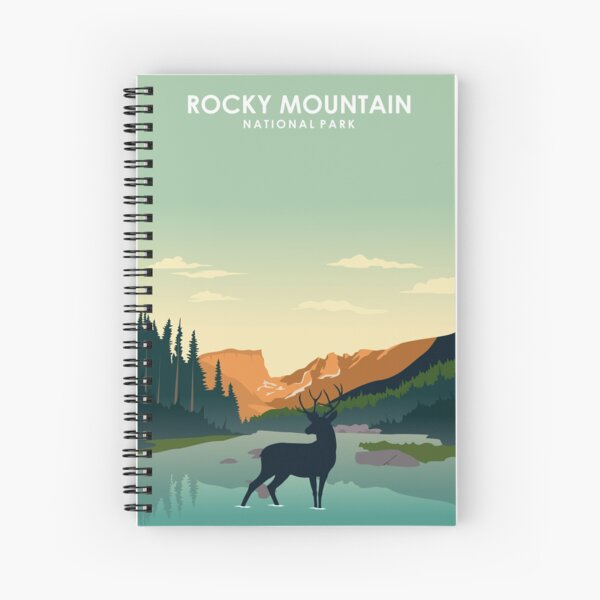 Rocky Mountain National Park Travel Poster Spiral Notebook