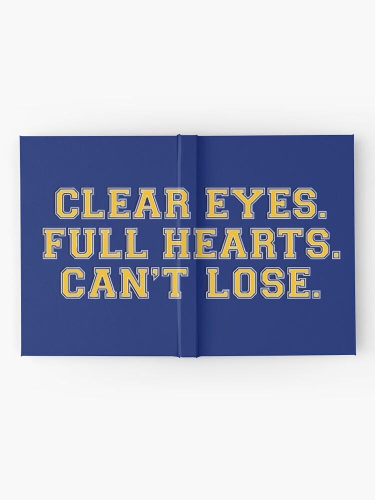 Alternative Ansicht von Clear eyes, full hearts, can't lose Notizbuch
