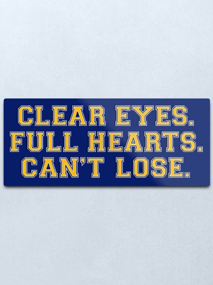 Alternate view of Clear eyes, full hearts, can't lose Metal Print