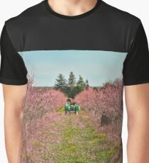 Peach Orchard at Work Graphic T-Shirt
