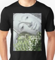 In the Garden - Quan Yin in White Unisex T-Shirt