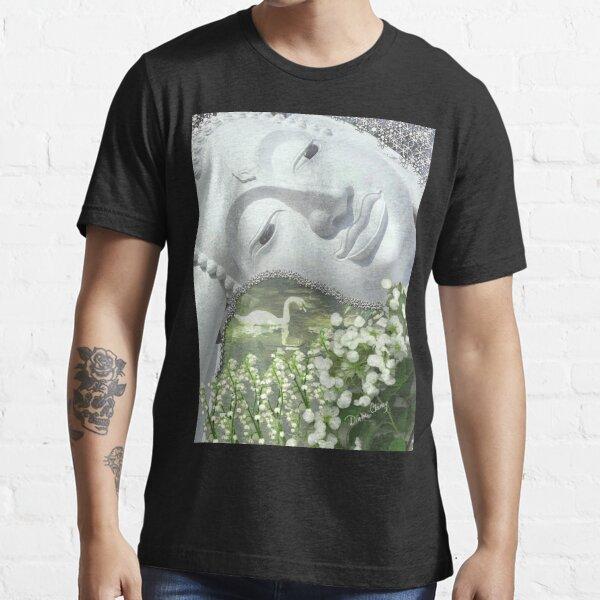 In the Garden - Quan Yin in White Essential T-Shirt