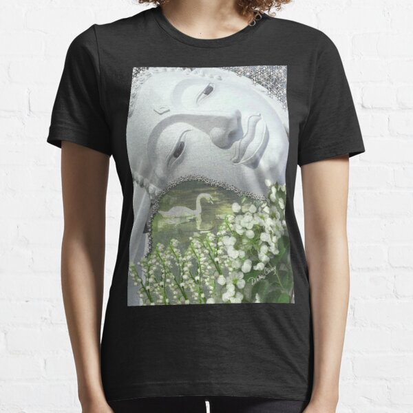 In the Garden - Quan Yin in White Essential T-Shirt