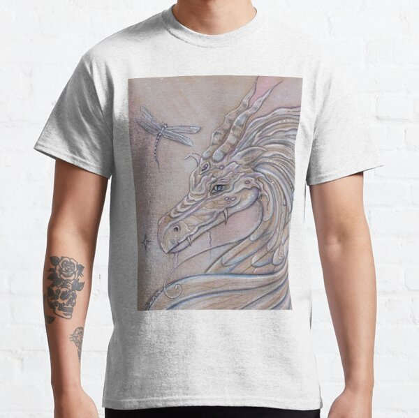 Unlikely Friends dragon and dragonfly Classic T-Shirt