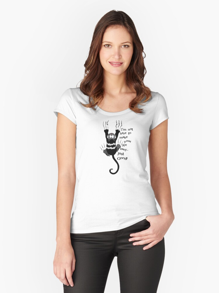 Good life Cat Women's Fitted Scoop T-Shirt Front