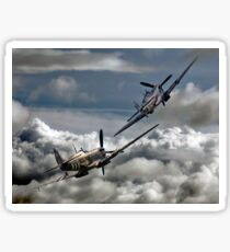 RAF WW2 Spitfire Tailchase Sticker