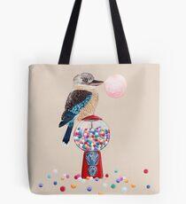Bird gumball machine Kookaburra Tote Bag
