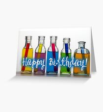 Happy Birthday - Laboratory & Test tubes Greeting Card