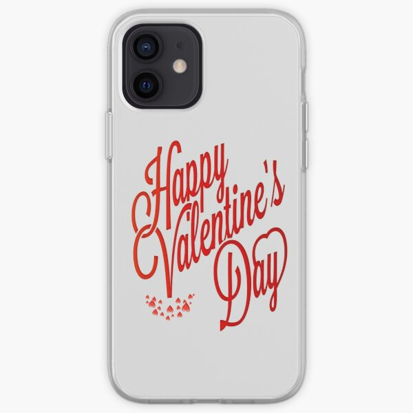 happy valentine's day, for family, and friends Coque souple iPhone