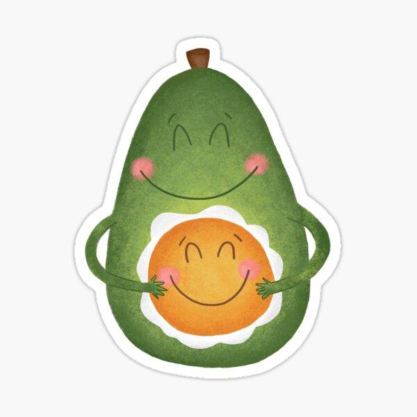 Avocado and Egg Sticker