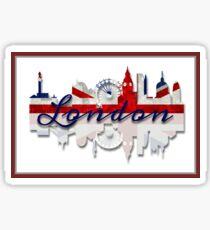 London Skyline British Flag Art Sticker