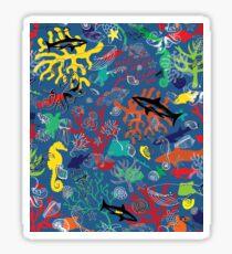 Ocean Colour Scene - fun nautical pattern by Cecca Designs Sticker