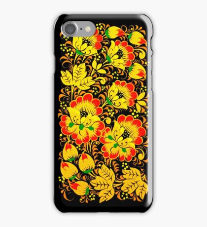Floral ethnic print iPhone Case/Skin