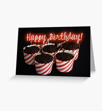 Happy Birthday - Cupcake 02 Greeting Card