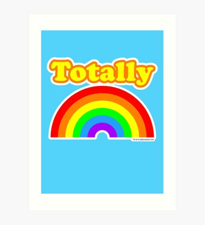 Totally Rainbow Logo Art Print