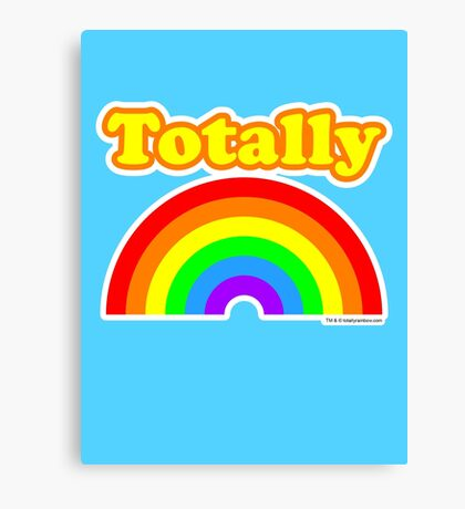 Totally Rainbow Logo Canvas Print