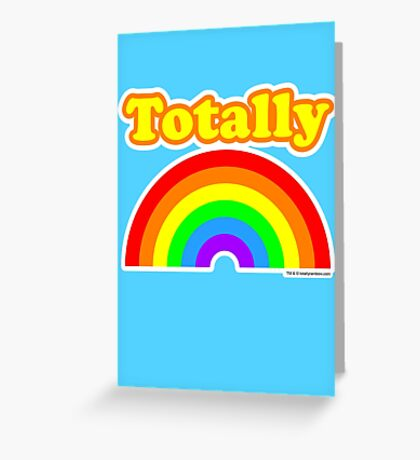 Totally Rainbow Logo Greeting Card