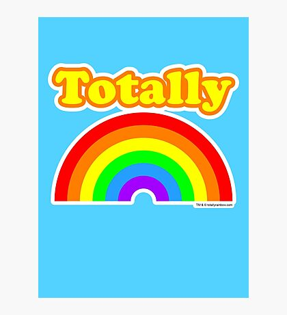 Totally Rainbow Logo Photographic Print