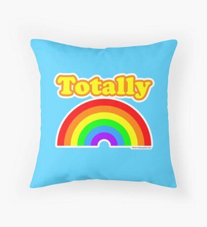 Totally Rainbow Logo Throw Pillow