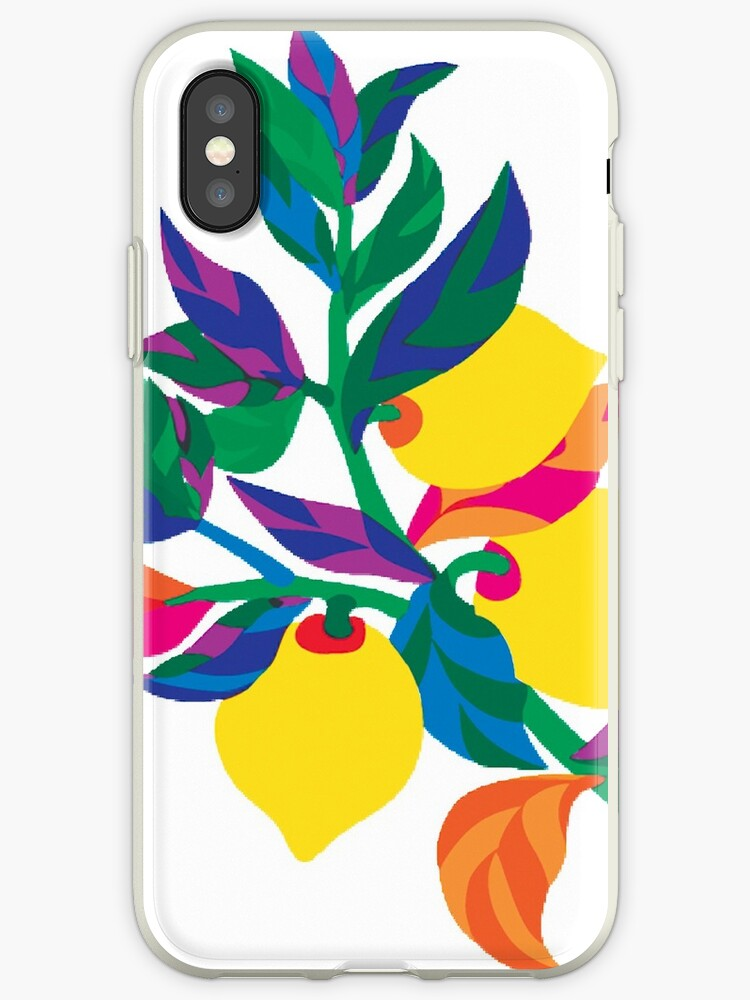Lemon Abstract Print iPhone 6 Case by Nicholas Thompson